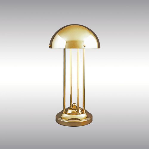 table lamp / traditional / brass / silver