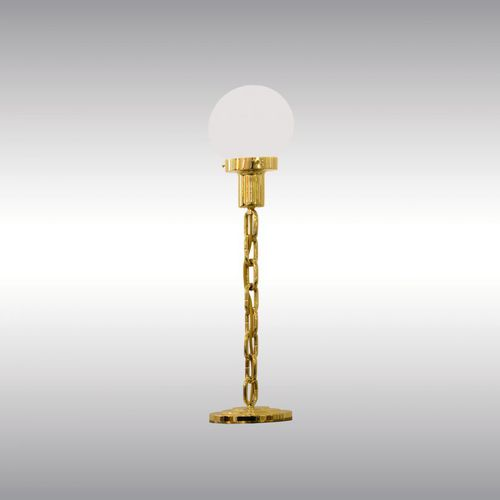 table lamp / traditional / blown glass / brass