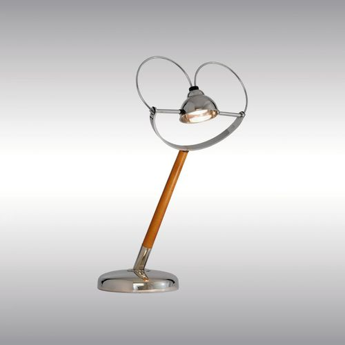 table lamp / traditional / brass / beech