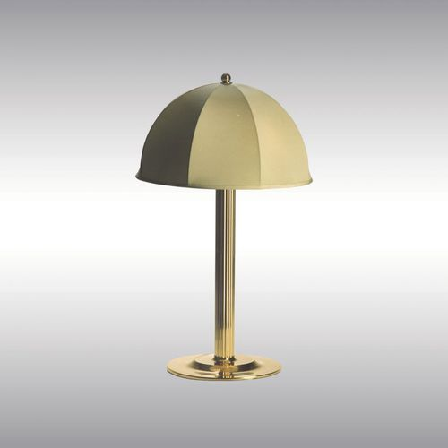 table lamp / traditional / silk / brass