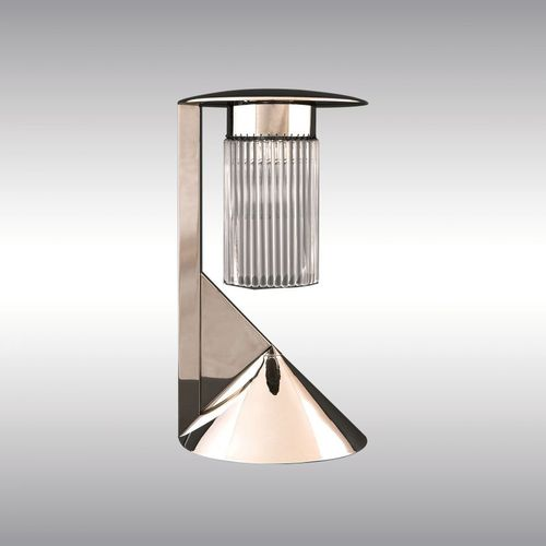 table lamp / traditional / crystal / nickel