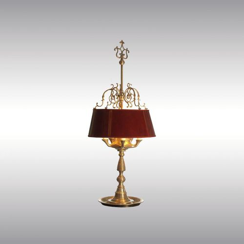 table lamp / classic / metal / brass