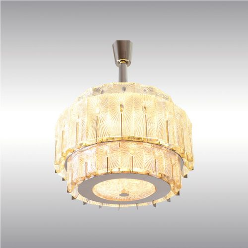 traditional chandelier / glass / metal