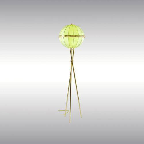 floor-standing lamp / traditional / brass / fabric