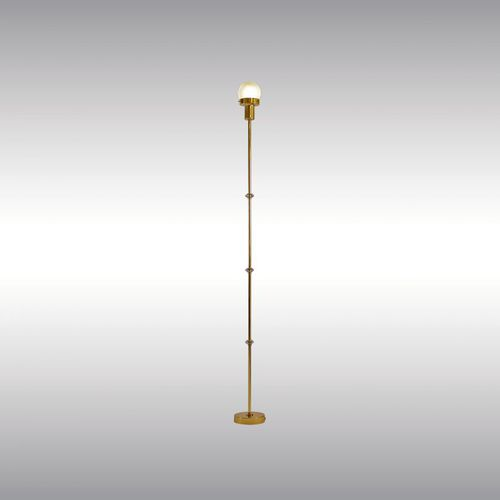 floor-standing lamp / traditional / glass / blown glass