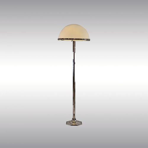 floor-standing lamp / traditional / brass / blown glass