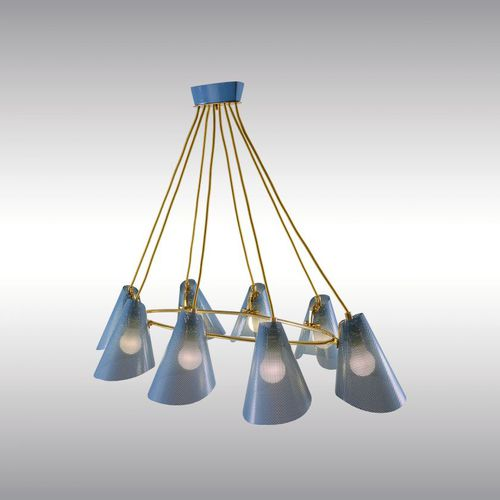 traditional chandelier / brass / iron / LED