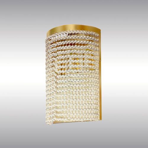 traditional wall light / brass / glass / LED