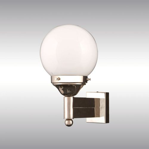 traditional wall light / brass / blown glass / LED