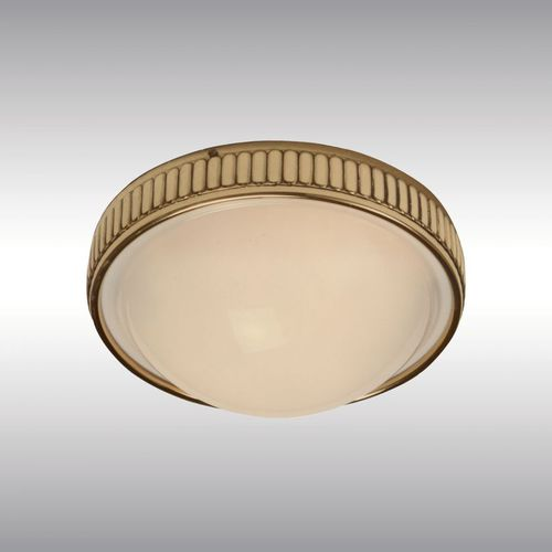traditional wall light / brass / blown glass / LED