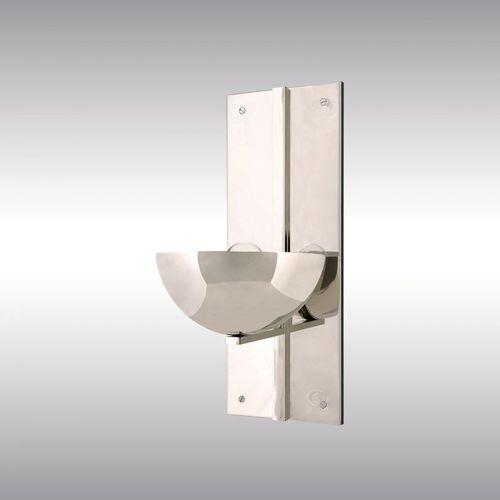 traditional wall light / brass / LED / rectangular