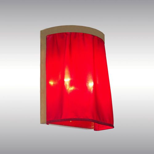 traditional wall light / fabric / brass / by Adolf Loos