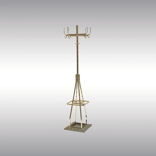 floor coat rack / traditional / brass / commercial