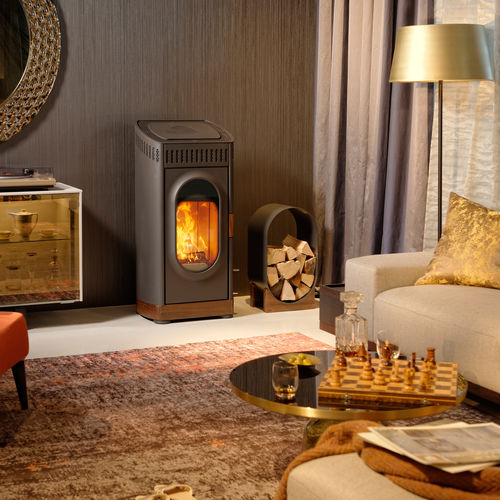 Wood heating stove / contemporary / steel WOODY XTRA AUSTROFLAMM