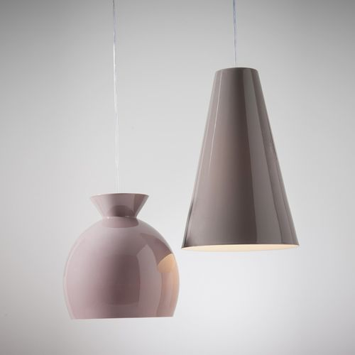 pendant lamp / contemporary / porcelain / pink