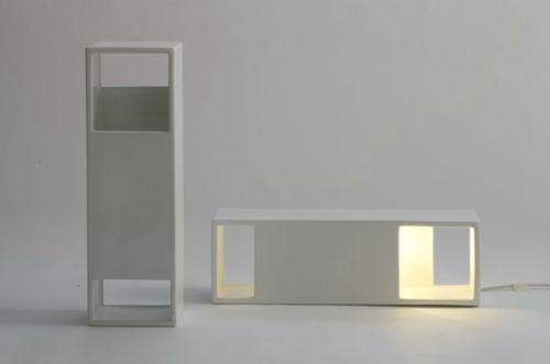Table lamp / contemporary / ceramic / white BOX by Roberto & Ludovica Palomba BOSA