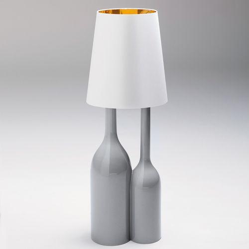 table lamp / original design / fabric / ceramic