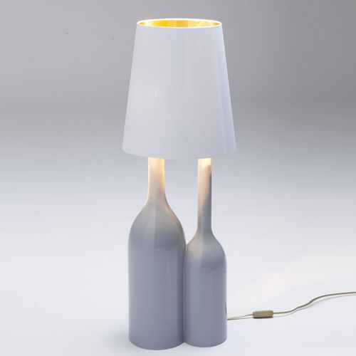 Table lamp / original design / ceramic / fabric CHAMPAGNE 2 by Sam Baron BOSA