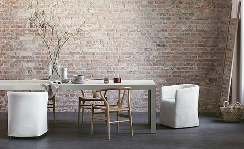 contemporary table / wooden / rectangular / white