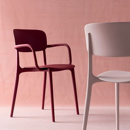 contemporary chair / with armrests / polypropylene / outdoor