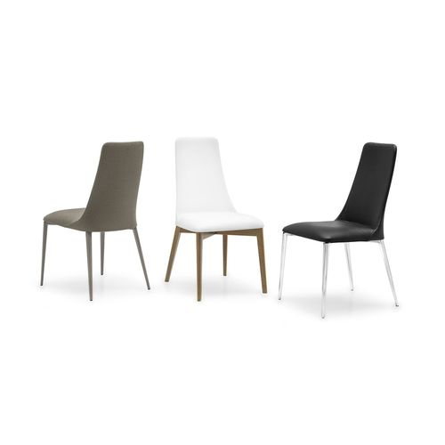 contemporary chair / upholstered / with armrests / high-back