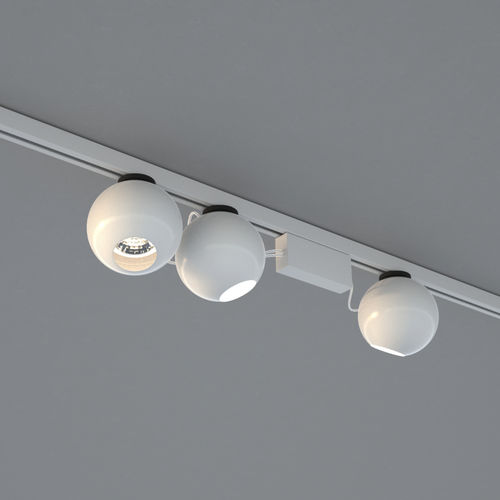LED track light / round / metal / commercial 12-25 by Co Twee DARK AT NIGHT NV
