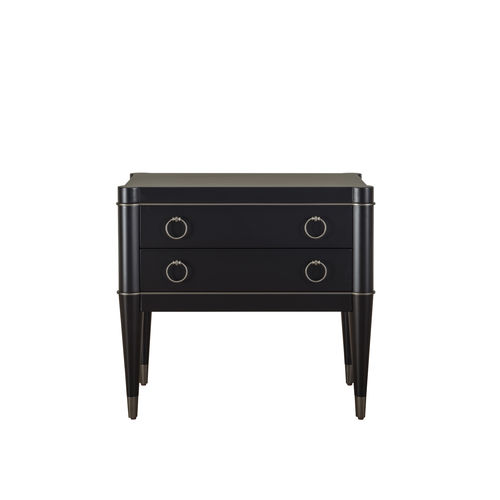 traditional bedside table / lacquered wood / solid wood / rectangular