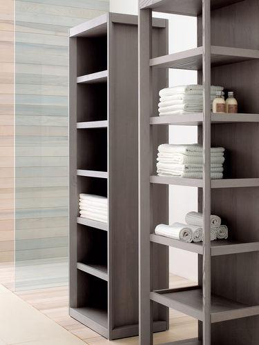 contemporary shelf / wooden / bathroom