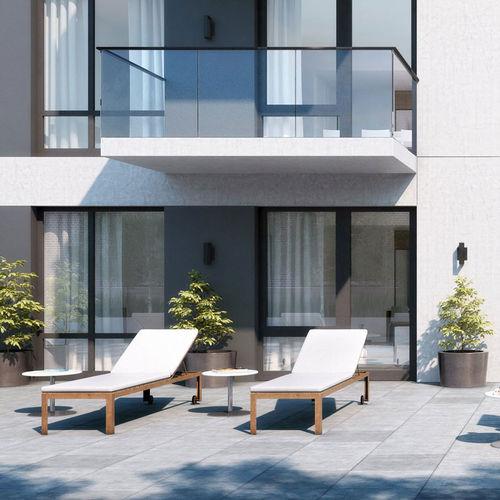 contemporary sun lounger / wooden