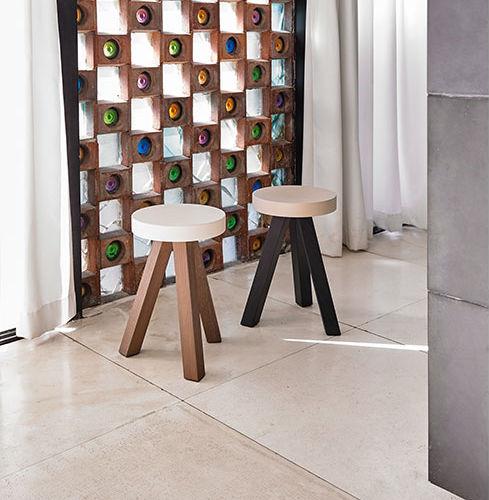 Scandinavian design stool / wooden / MDF / black
