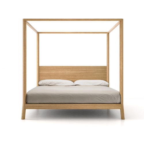 canopy bed / double / contemporary / with headboard
