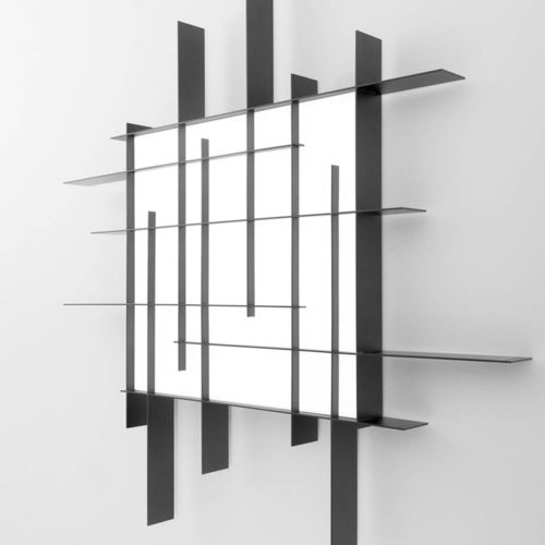 contemporary wall light / steel / painted aluminum / PMMA