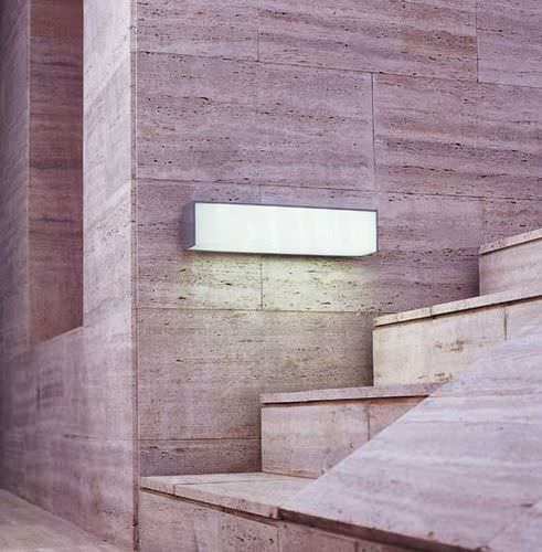contemporary wall light / outdoor / anodized aluminum / methacrylate
