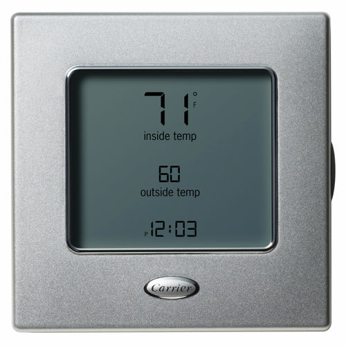 programmable thermostat / room / wall-mounted / for heating