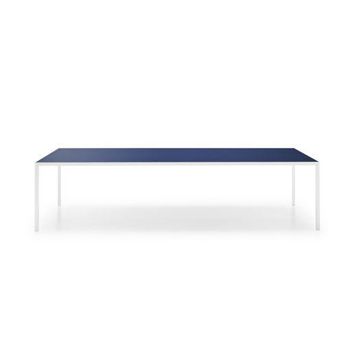 contemporary table / tempered glass / aluminum / ceramic