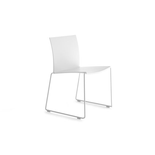 Contemporary chair / upholstered / stackable / sled base M1 by Piergiorgio Cazzaniga MDF Italia