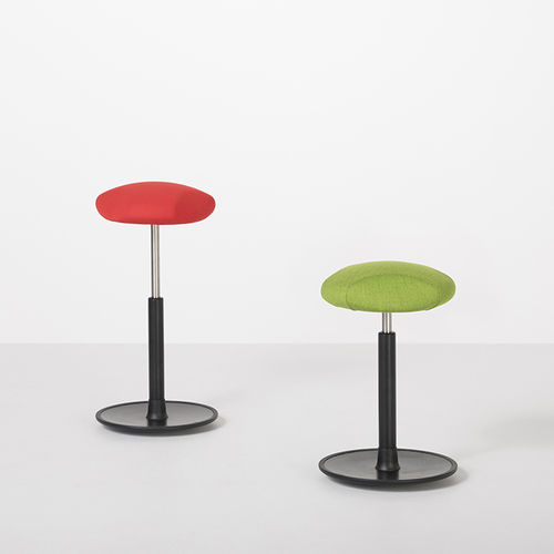 contemporary stool / fabric / metal / commercial