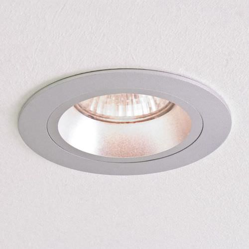 recessed downlight / bathroom / halogen / round