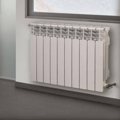 hot water radiator / aluminum / contemporary / horizontal