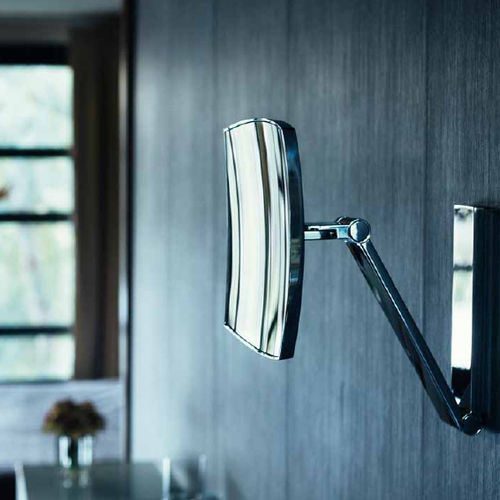 wall-mounted bathroom mirror / LED-illuminated / magnifying / contemporary