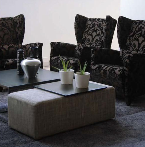 Contemporary armchair / fabric / leather / with footrest PANECK FUN by Josep Gras GRASSOLER
