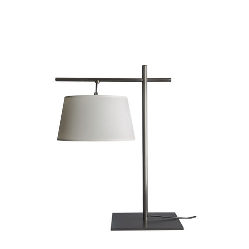 desk lamp / contemporary / brass / cotton