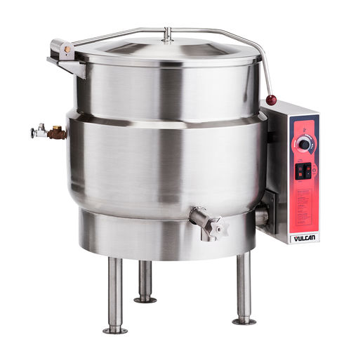 electric boiling pan / steam / floor-mounted / commercial