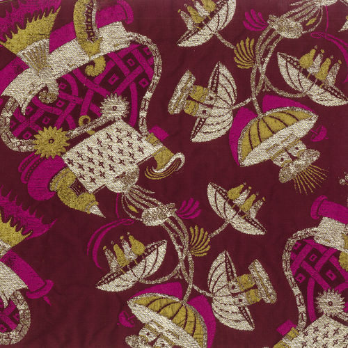 upholstery fabric / patterned / polyester / viscose