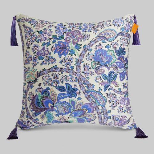 square cushion / floral / linen / cotton