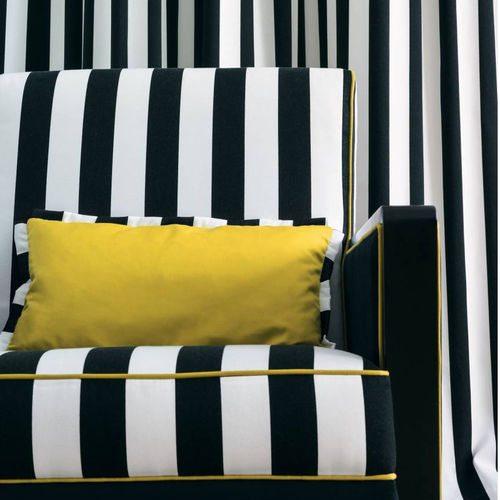 upholstery fabric / for curtains / striped / cotton
