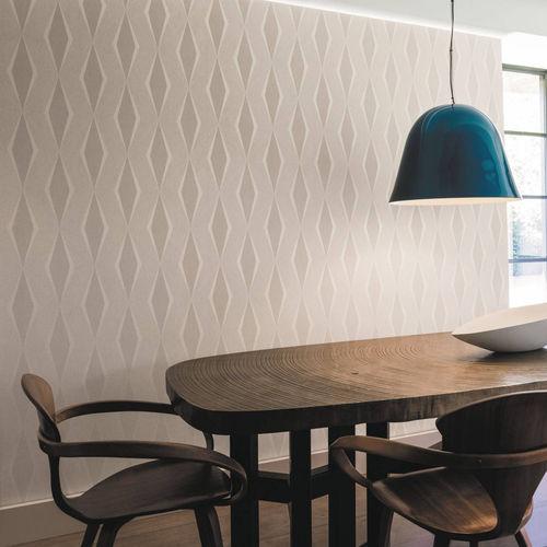 contemporary wallpaper / geometric pattern / iridescent / purple