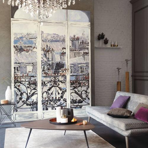 cover decorative panel / vinyl / wall-mounted / fire-retardant