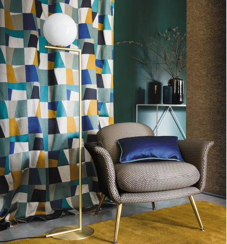 upholstery fabric / for curtains / geometric pattern / cotton