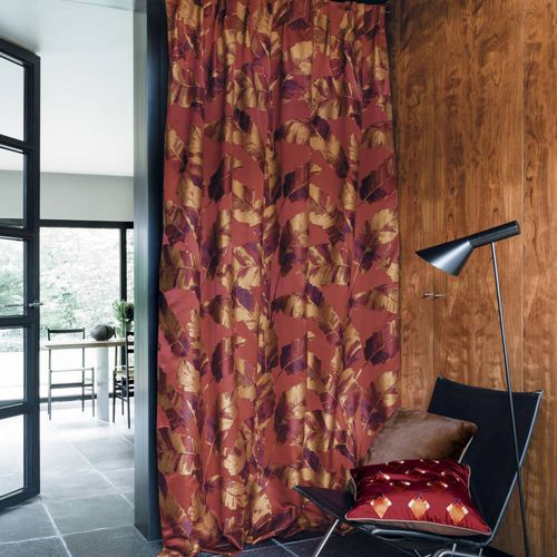 upholstery fabric / for curtains / nature pattern / viscose